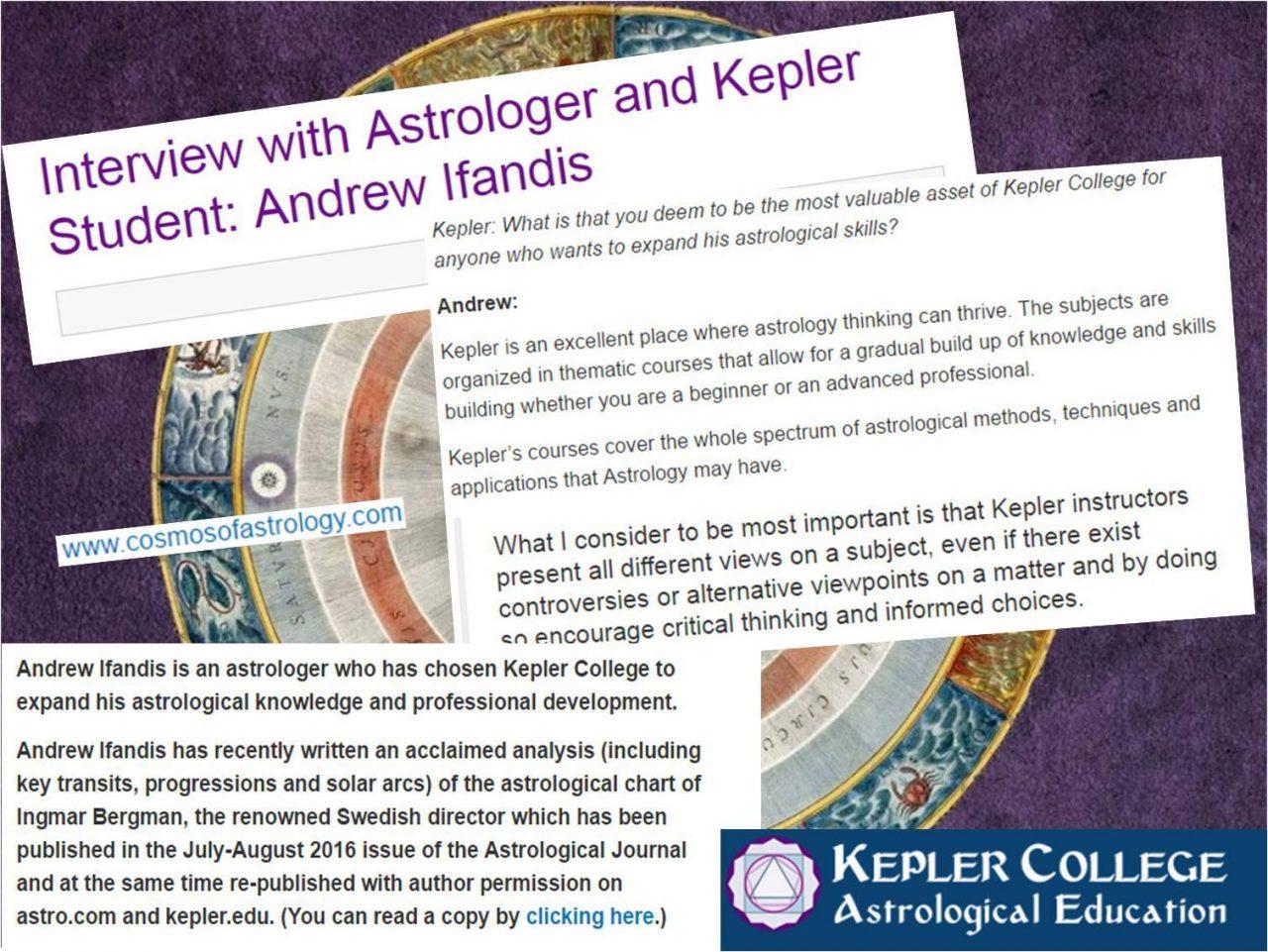 KEPLER COLLEGE: INTERVIEW WITH ASTROLOGER ANDREW IFANDIS